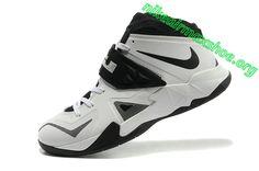 new photos 041f1 a957e Nike Zoom Lebron Soldier 7 Sample Simple White Black Metallic Silver 599264  003 Nike Lebron,