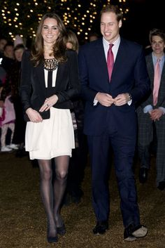 December 18 2010 She wore a Temperley London dress to attend the Cancer Trust Christmas spectacular in Norfolk - the couple's first public outing following news of their engagement.