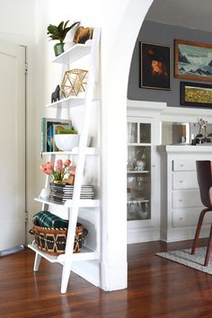 Oleander And Palm Leaning Bookcase