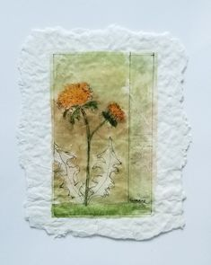"""Tea Bag Treasures Suzanne LeLoup-West """"Dandelion"""" suzanne@suzannes-art-studio.com"""