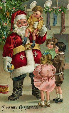 Père Noël Vintage 118, Fonds d'écran gratuits, écran Cool