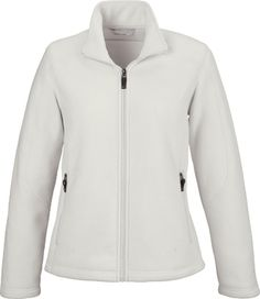 Logo Wear VOYAGE LADIES' FLEECE JACKET by North End custom embroidered or printed with your logo.