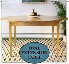 1107-Oval Extension Table Plans