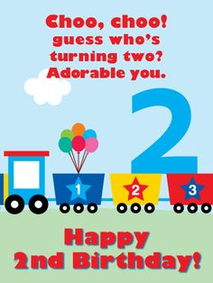 Send Free Toy Train Doodle – Happy Birthday Card to Loved Ones on Birthday & Greeting Cards by Davia. It's free, and you also can use your own customized birthday calendar and birthday reminders. Baby Birthday Wishes, Special Happy Birthday Wishes, Birthday Greetings For Brother, Happy Birthday Ballons, Wishes For Baby Boy, Happy 11th Birthday, Birthday Wishes Greetings, Birthday Verses, Happy Birthday Husband