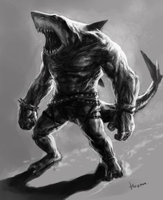 Shark man by hazorust King Shark, Shark Man, Character Art, Character Concept, Character Design, Mens Tiger Tattoo, Aliens, Apocalypse, Altered Beast