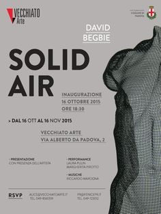 Solo Exhibition David Begbie: SOLID AIR at Vecchiato Arte, Padova, Italy - Oct-Nov 2015