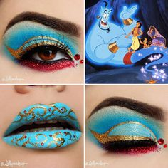 Awesome Makeup Ideas from Disney. Are you a fan of Disney? The magic of Disney extends much further than the sweet movies and enchanting theme parks. Disney Eye Makeup, Disney Inspired Makeup, Eye Makeup Art, Disney Halloween Makeup, Makeup Geek, Cinderella Makeup, Disney Princess Makeup, Disney Character Makeup, Crazy Makeup
