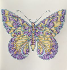 Johanna Basford Faber Castell pencils coloured by me Magical Jungle butterfly