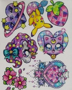 Ideas Drawing Kawaii Tattoos For 2020 Girly Tattoos, Small Tattoos, Cool Tattoos, Kawaii Tattoos, Tatoos, Et Tattoo, Tattoo Drawings, Kunst Tattoos, Body Art Tattoos