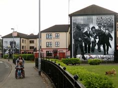 "A general view of murals in the Bogside area of Londonderry close to where the ""Bloody Sunday"" killings took place in 1972...Bloody Sunday Bogside"