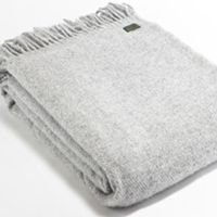 Tweedmill Lifestyle Pure New Wool Throw Plain Weave - Silver Grey A beautiful high quality throw ideal for the bottom of a bed a throw for a chair or