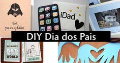 Dicas e sugestões de DIY / faça você mesmo para o Dia dos Pais. Quadros, cartões, pote da felicidade. My Father, You And I, Dads, Gift Ideas, Happiness, Good Ideas, Jars, Gifts, You And Me