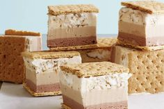 """Search for """"S'mores ice cream sandwiches"""" - What's Gaby Cooking Kinds Of Desserts, Frozen Desserts, Summer Desserts, Frozen Treats, Summer Recipes, Ice Cream Mix, Coffee Ice Cream, Vanilla Ice Cream, Ice Cream Treats"""