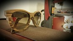 Zebrano Wooden Sunglasses