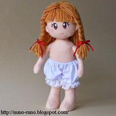 Boneca de Feltro Simples - lingerie com passo a passo