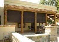 Oasis® 2800 brown patio solar shades Screenmobile of Wilmington NC