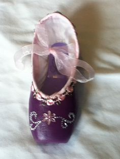 The Brittni Shoe ...  Decorated Pointe Shoe by JazzedUpPointes,