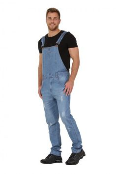 #Uskees Dungarees for Men - 'Keith' Overalls designed to be worn bib up or bib down