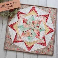 """{on the blog today} """"Belle"""" is my new mini quilt pattern and she is gorgeous. This is a FPP pattern and its constructe..."""