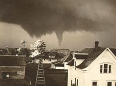 Believed to the be June 11, 1915 Tornado that hit near Greensburg, Kansas.    Photo from an old postcard