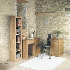 Mobel Solid Oak Single Pedestal Computer Desk -  - Office Desk - Baumhaus - Space & Shape - 2