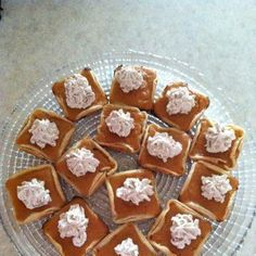 Mini Pumpkin Pies - made in the Pampered Chef Brownie Pan