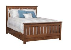 Amish Claremont Mission Slat Bed Gorgeous mission style wood bed. Amish made in choice of wood and finish. So cozy you might sleep in really late!