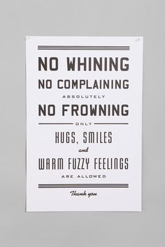 Hugs and smiles only