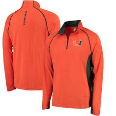 Miami Hurricanes Colosseum Air Stream Quarter-Zip Pullover Jacket - Orange