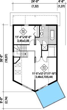 Master with Deck - 80683PM | 2nd Floor Master Suite, CAD Available, Canadian, Cottage, Metric, Mountain, PDF, Sloping Lot, Vacation | Architectural Designs
