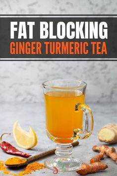 This ginger turmeric tea recipe is one of the best detox drinks for colds, boost. - This ginger turmeric tea recipe is one of the best detox drinks for colds, boosting your immune sys - Turmeric Recipes, Detox Recipes, Smoothie Recipes, Juice Recipes, Ginger Tumeric Tea, Turmeric Lemonade, Benefits Of Turmeric Tea, Turmeric Root, Benifits Of Tumeric