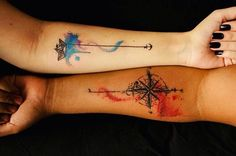 Cute Mr. and Mrs. Tattoos for Perfect Couples - 18
