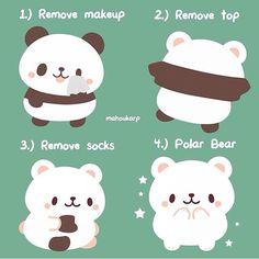Panda removing costume