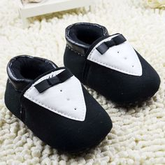 Gentleman Style Baby Shoes Newborn Kids Prewalker Shoes Infant Boys Shoes Cotton Soft Soled Anti-slip Footwear 0-18month #Affiliate