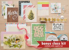25 Days : capture your holiday memories with Maggie Holmes and her contributors during @Studio_Calico's December class. Bonus class kit while supplies last!