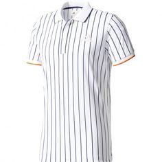1bb98e7a92034 Adidas New York Striped tennispolo heren white De Wit Schijndel. Tennis  FashionTennis ClothesPharrell WilliamsAdidas MenAthleticCuffsPoloTapePolos
