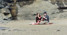 Beach Picnic Engagement Shoot