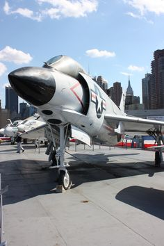 Mc Donnell F-3H Demon. Flight Deck luis MC Intrepid Museum, Navy Carriers, Us Military Aircraft, Flight Deck, Demons, Airplanes, Planes, Demons 2, Devil