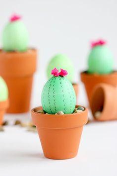 Süße DIY Idee zu Ostern: Ostereier als Kaktusse