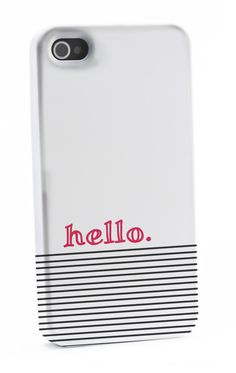 Striped Coral hello iPhone 4/4s Case by shoppronetowander
