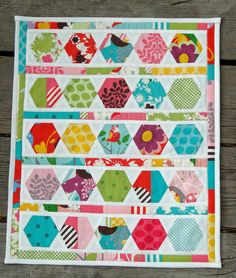 5. I love the hexies - Idea:  Use at least 3 different patterned papers in a hexagon shapes on your page.
