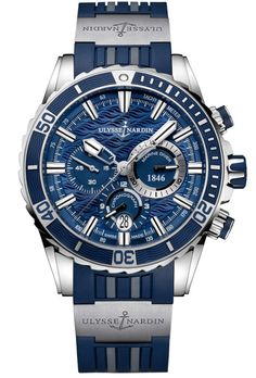 Ulysse Nardin 1503-151-3/93 Maxi Marine Diver Chronograph. #ulyssenardin