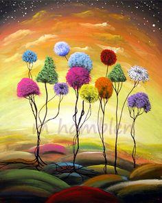 lollipop tree landscape print  Mattsart by mattsart on Etsy, $20.00