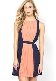 352072302496 Buy MANGO Peach Colored Solid Skater Dress Online - 3872477 - Jabong