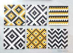 Perler Bead Designs, Easy Perler Bead Patterns, Hama Beads Design, Cross Stitch Patterns, Hama Beads Coasters, Diy Perler Beads, Perler Bead Art, Pearler Beads, Fuse Beads