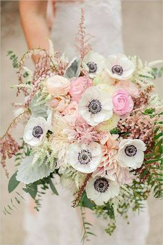 Ok - this bouquet is simply STUNNING! My favourite part of this arrangement is the white anemones! I feel like they just complete this bouquet and give it a very modern, sophisticated look - Julia Seiler - http://blog.juliaseilerphotography.com