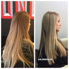 Happy Monday Blondies! Check out this hair makeover! ❤️ #beforeandafter #love #nofilter #goblonde #blondesalon #blondehair #blondecolor #blondtourage #blondecolorspecialist #THEBLONDESALON #COMEINWEREBLONDE