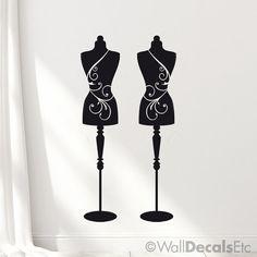 Etiquetas de decoración de la pared de la maniquí 2: Vestido de formas, pared…