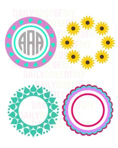 Monograms are always popular. And if you sell crafts you know monograms are in high demand. So today I'll show you how to make a free Circle Monogram on your Cricut machine. Arts And Crafts Storage, Arts And Crafts For Teens, Paper Crafts For Kids, Arts And Crafts Supplies, Crafts To Sell, Diy Crafts, Cricut Monogram, Monogram Frame, Kindergarten Crafts
