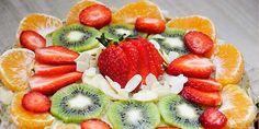 Gluten-Free Vanilla Cake with Fruits and Banana-Cashew Cream | Tort fara gluten de vanilie cu fructe si crema de caju
